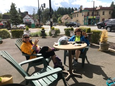 End of the ride, eating pb&j's